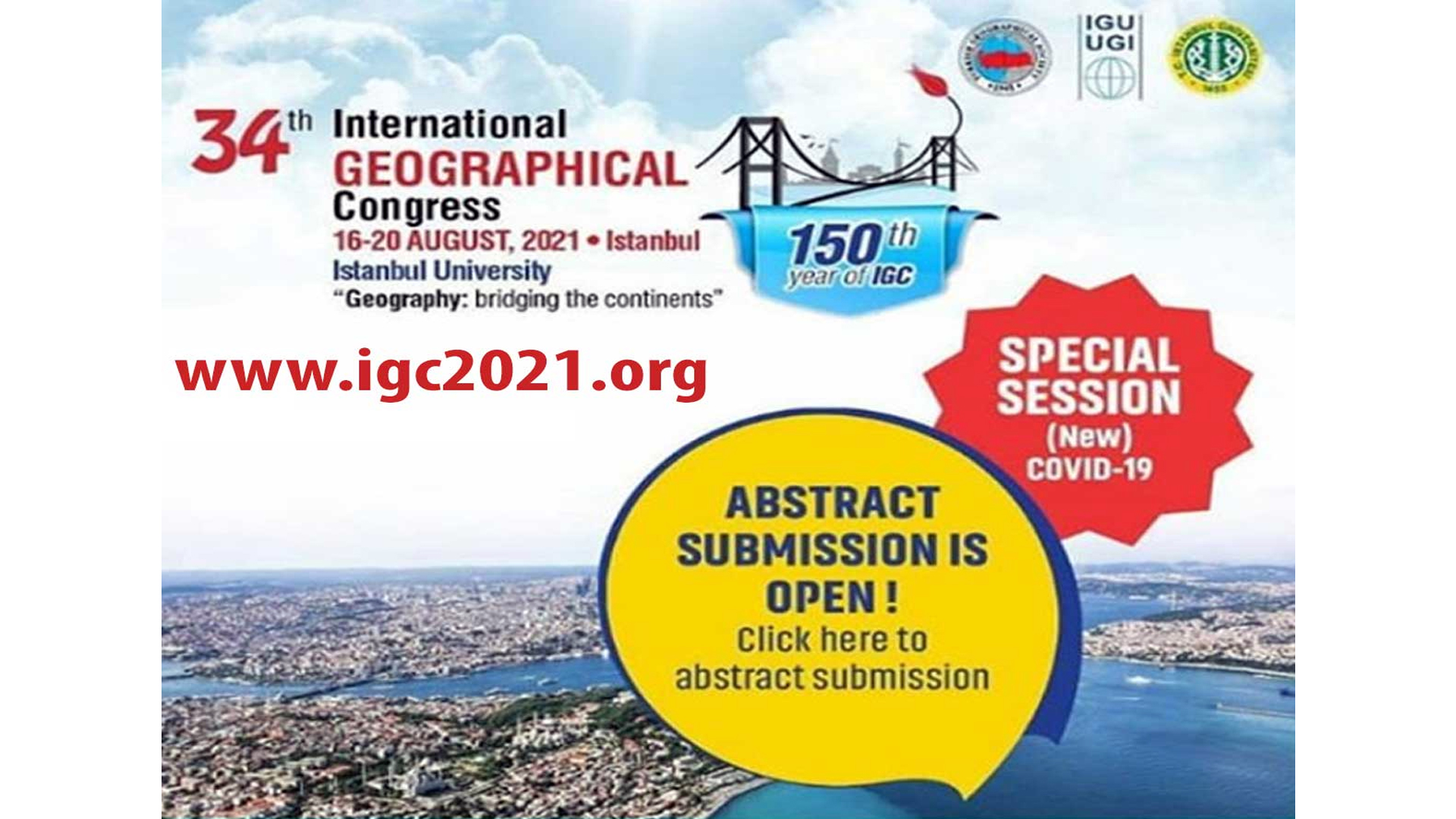 34th INTERNATIONAL GEOGRAPHICAL CONGRESS
