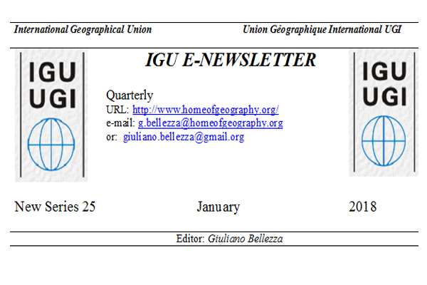 IGU E-NEWSLETTER JANUARY 2018
