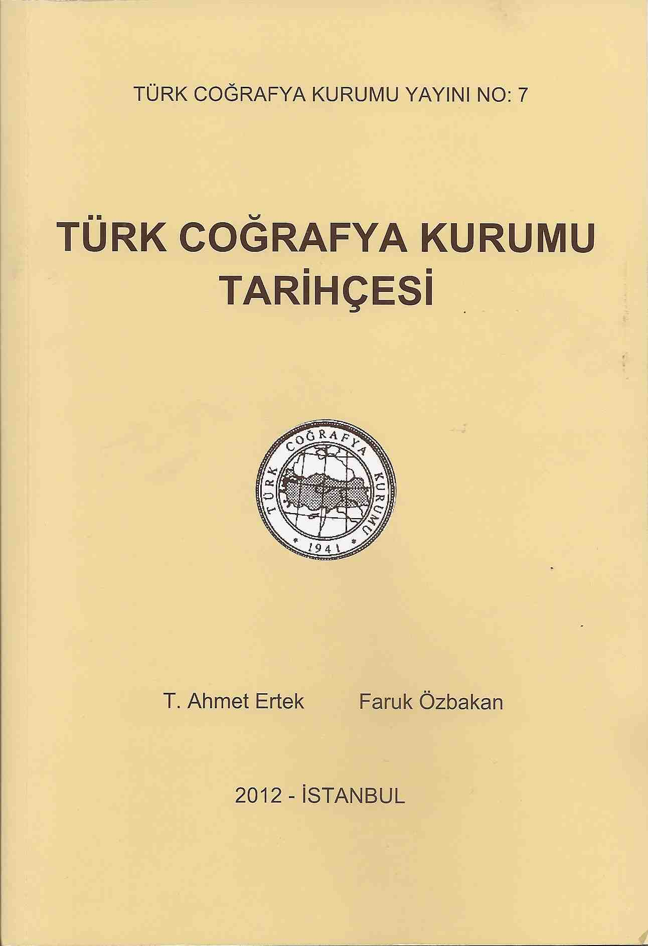 History of Turkish Geographical Geography